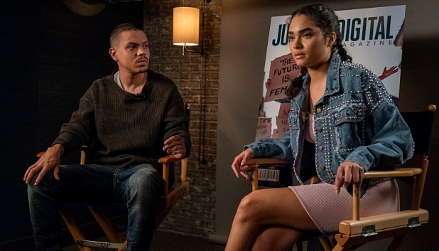 "STAR: L-R: Guest star Evan Ross and Brittany O'Grady in the ""Proud Mary Keep On"" episode of STAR airing Wednesday, May 1 (9:00-10:00 PM ET/PT) on FOX. ©2019 Fox Media LLC CR: Wilford Harewood/FOX."