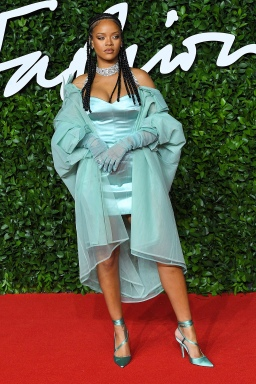 Mandatory Credit: Photo by Anthony Harvey/Shutterstock (10489774fe) Rihanna The Fashion Awards, Arrivals, Royal Albert Hall, London, UK - 02 Dec 2019